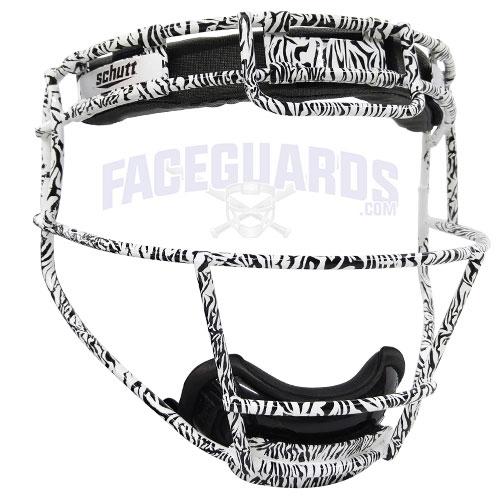 Schutt Custom Zebra White Softball Face Guard