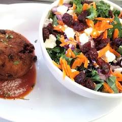 arancini and side salad