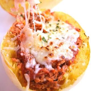 Chicken Parmesan Stuffed Spaghetti Squash