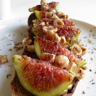 Fig and Hazelnut Open Sandwich Recipe