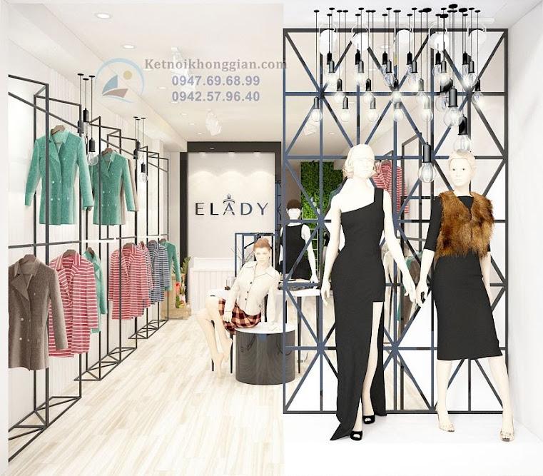 thiết kế cửa hàng thời trang công sở chất lượng cao tại Hà Nội