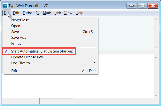 Start automatically at system start-up