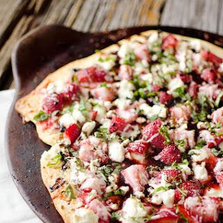 Strawberry Balsamic & Goat Cheese Pizza