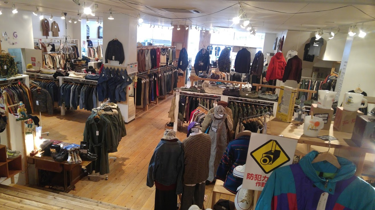 Men's wear DESERT SNOW vintage and second-hand store in Niigata