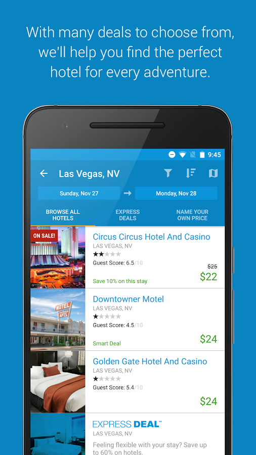 Priceline Hotel, Flight & Car- screenshot