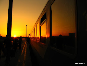 Photo: Tehran Railway sunset (towards Mashad)