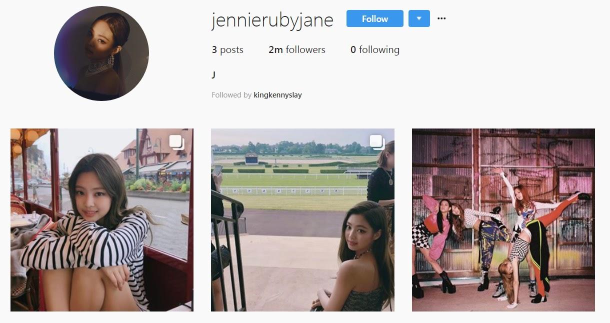 BLACKPINK's Jennie Hits 2 Million Followers On Instagram In
