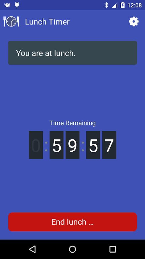 Lunch Timer and Reminder- screenshot