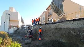 Trabajos actuales en el pueblo de Tíjola.