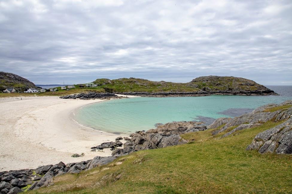 Achmelvich Bay, plaża, Szkocja, North Coast 500
