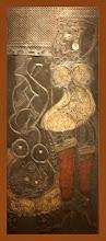 """Photo: Antonio Berni Taco para """"Ramona aprendiz"""" (o Ramona pupila). 1963 ca. 158,8 x 66 cm. Madera, metal, cuero y pedazos de neumáticos. Colección particular, Buenos Aires. Expo: Antonio Berni. Juanito y Ramona (MALBA 2014-2015)"""