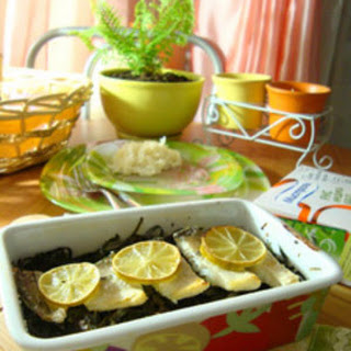 Baked Haddock with Seaweed and Vegetables
