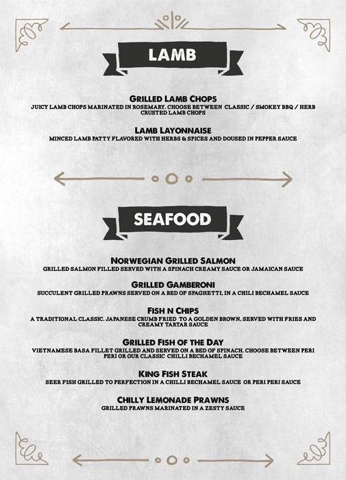 The Grill House menu 6