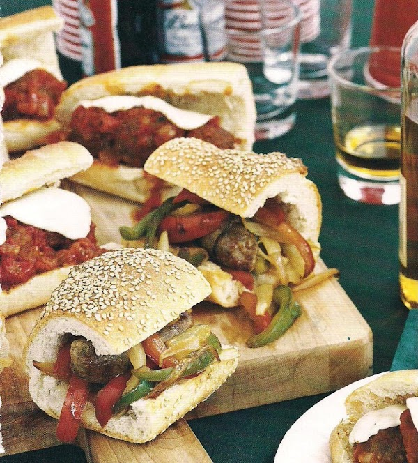 Sausage, Pepper, And Onion Heroes Recipe