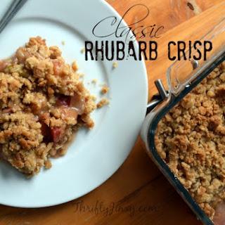 Classic Rhubarb Crisp