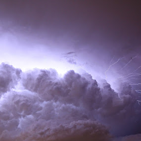Lightning chaser by Steven Butler - Landscapes Cloud Formations ( clouds, lightning storm, lightning, sky, cloudscapes, pwcstorm, cloud formation, storm )