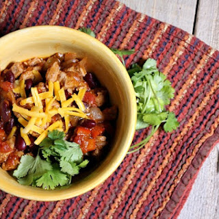 Quick and Easy Pork and Bean Chili.