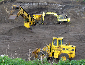 Photo: Heavy equipment nr nature reserve