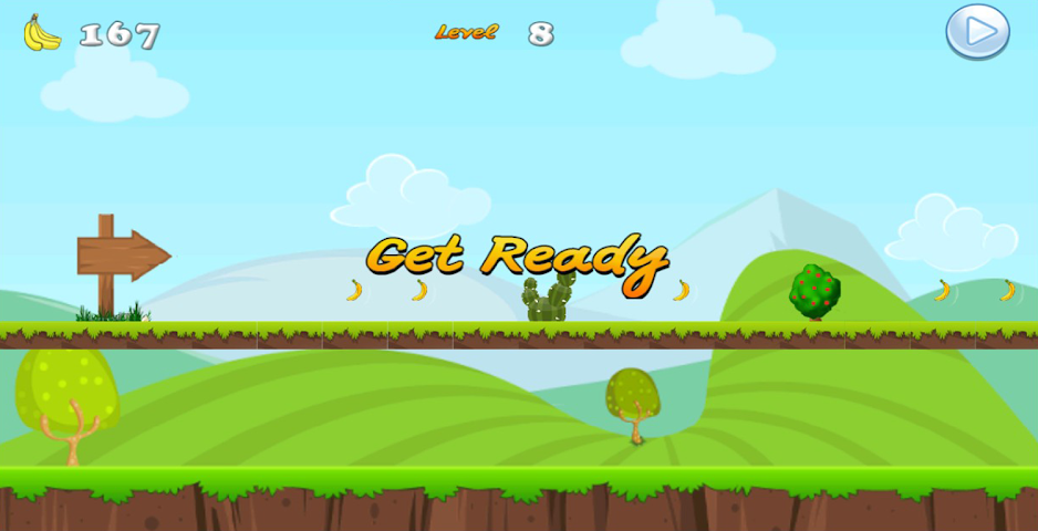Jumping bananas 1.0 collect all of the bananas whilst avoiding your enemies along