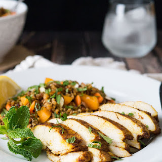 Moroccan Baked Chicken Breast + Quinoa Salad
