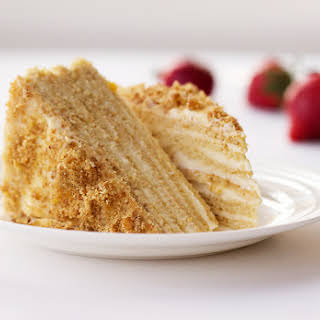 Russian Layered Sour Cream Cake.