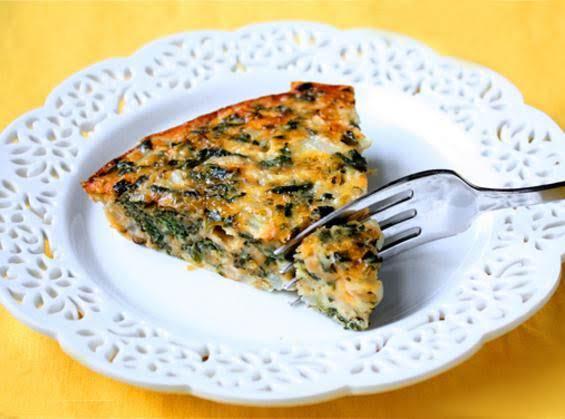 Crustless Spinach Parmigiana Pie Recipe