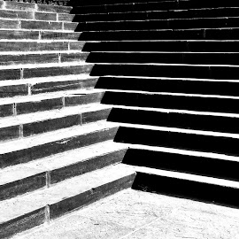 stairs by Rebecca Pollard - Black & White Buildings & Architecture
