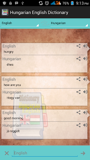 Hungarian English Dictionary