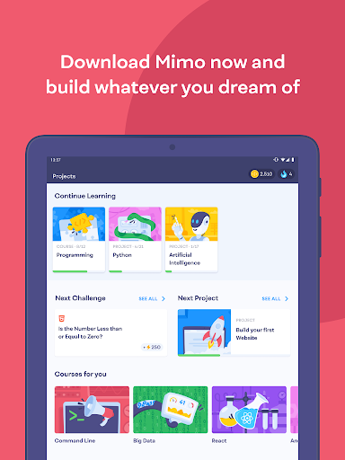 Mimo: Learn coding in JavaScript, Python and HTML 2.31 screenshots 14