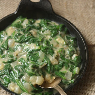 Healthy Creamed Spinach.