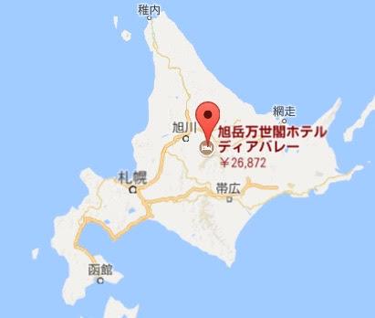 地図:旭岳温泉 ホテルディアバレー