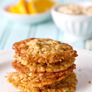 Orange Ginger Oatmeal Crisps
