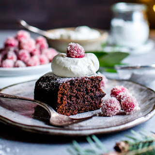 Gingerbread Snack Cake with Ginger Beer.