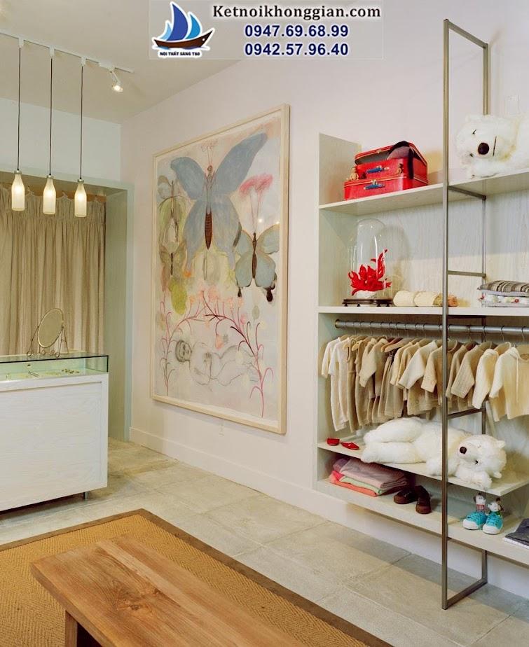 thiết kế shop quần áo trẻ em sinh động