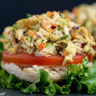 Open Faced Skinny Tuna Melt.