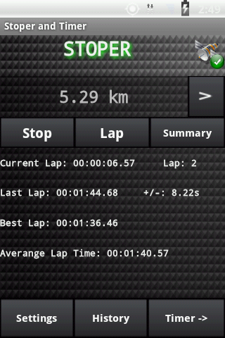 Stopwatch and Timer Pro- screenshot