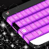 Purple Keyboard Skin