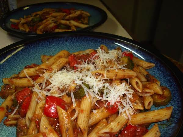 Pasta With Oven Roasted Vegetables Recipe