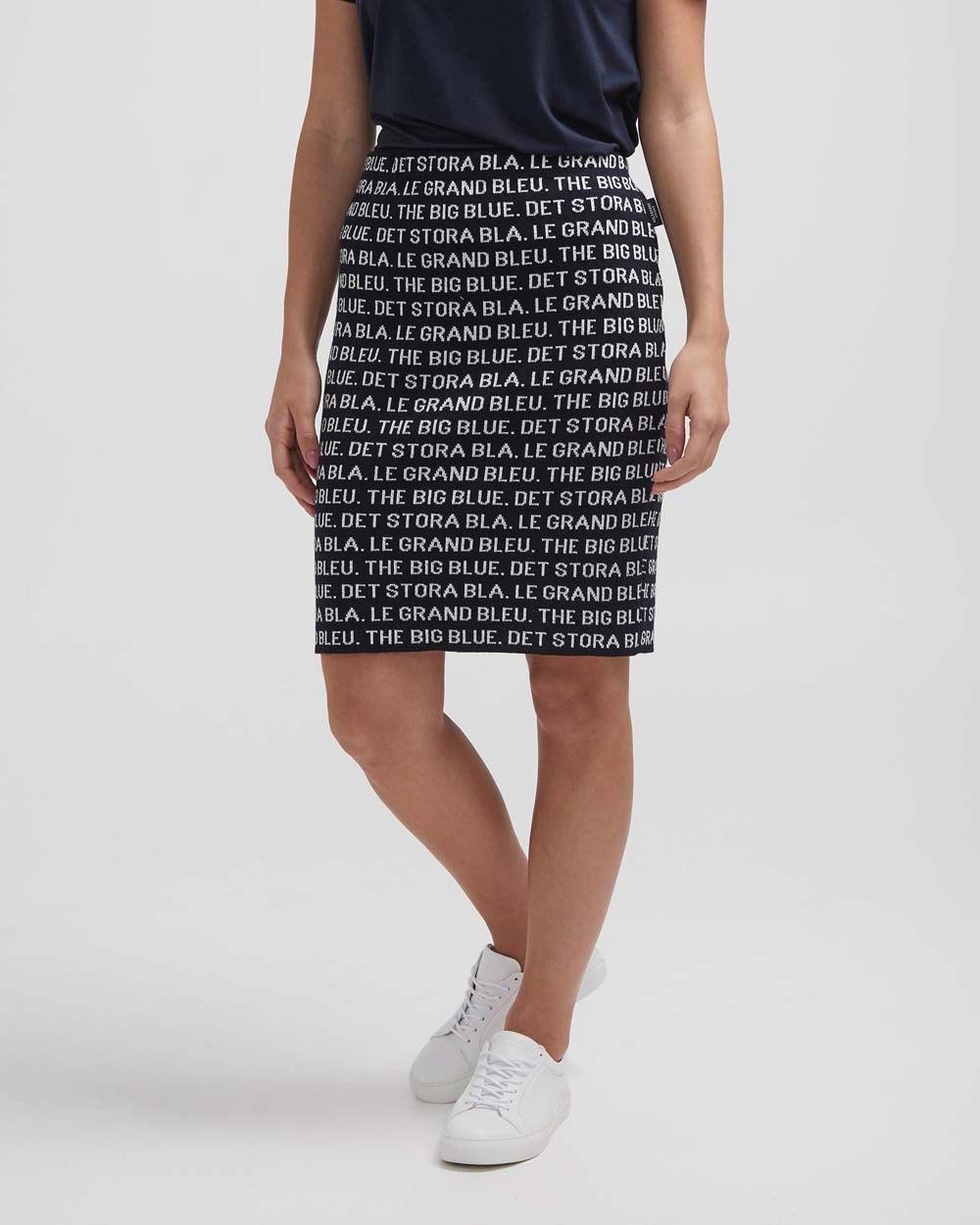 Holebrook Amira skirt navy off white