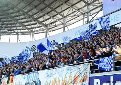 Les fans gantois chantent malgré la défaite
