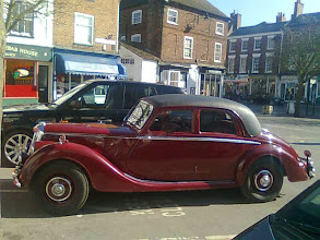 Photo: Seen here next to a sports Range Rover, the 53 Riley had counterparts in France with Peugeot turning out something very similar.