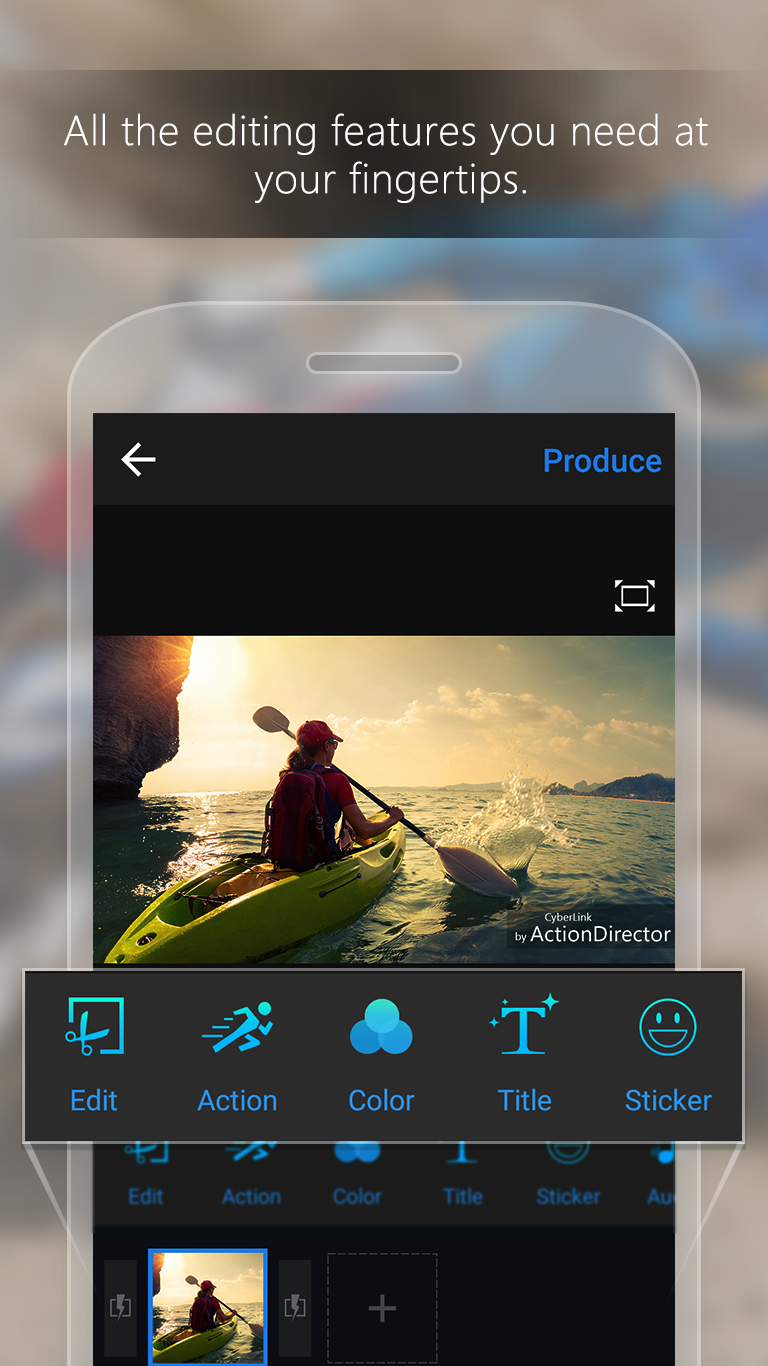 ActionDirector Video Editor - Edit Videos Fast Screenshot 1