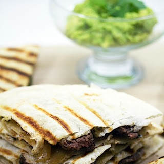 Flank Steak and Gorgonzola Quesadillas
