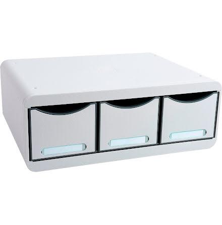 Box Exacompta 3lådor grå