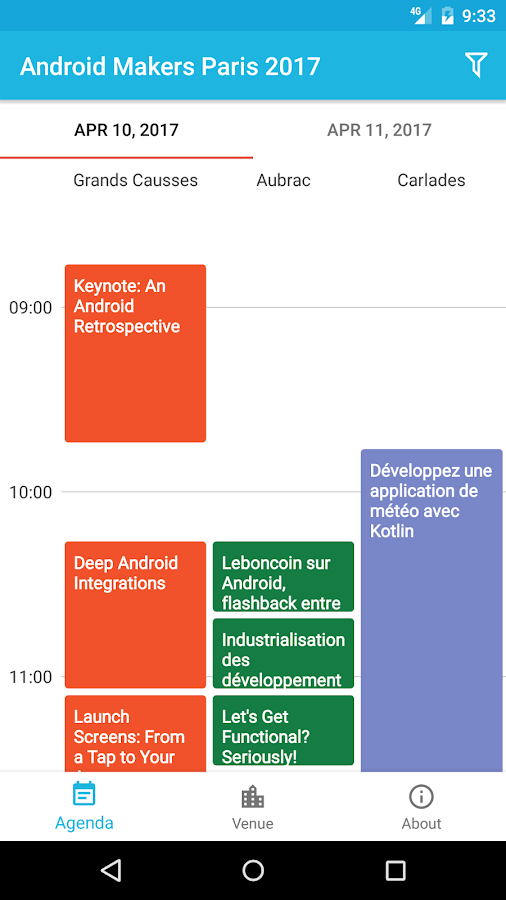 Android Makers Paris 2017- screenshot