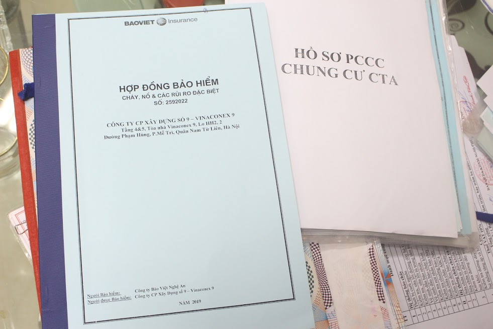 Hồ sơ PCCC của các cơ sở.