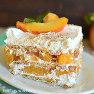 No Bake Peach Icebox Cake.