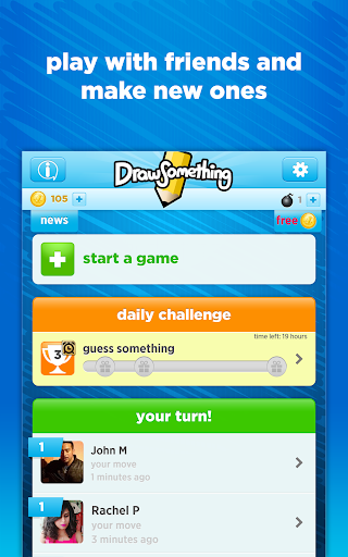 Draw Something game for Android screenshot