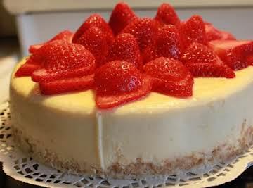 Coconut Strawberry-Rum Cheesecake