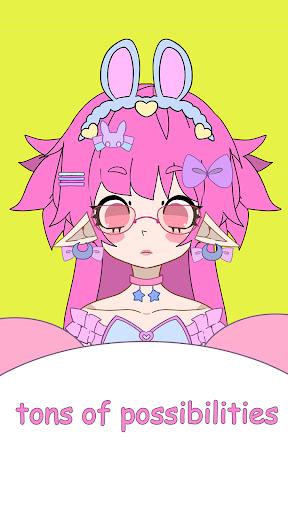 Code Triche Cutemii: cute girl avatar maker APK MOD screenshots 3